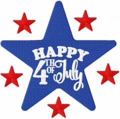 Star 4th of july embroidery design
