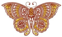 Star and moon butterfly embroidery design