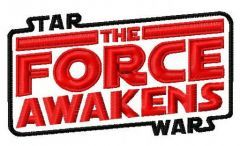 Star Wars The force awaken embroidery design