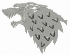 Stark mascot from Game of Thrones embroidery design