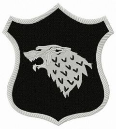 Stark shield from Game of Thrones embroidery design