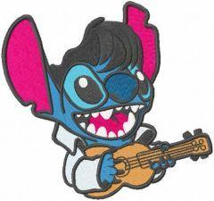 Stitch Guitar embroidery design
