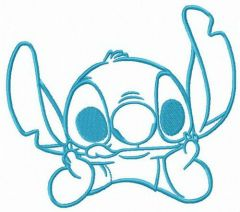 Stitch teasing you embroidery design