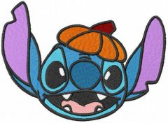 Stitch waiting for halloween embroidery design