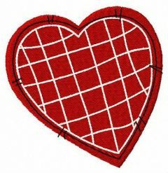 Stitched heart embroidery design