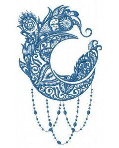 Strange moon embroidery design