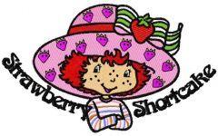 Strawberry Shortcake happy embroidery design