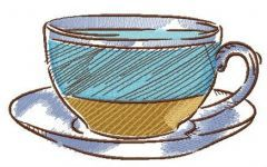 Striped cup embroidery design