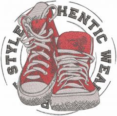 Style shoes embroidery design