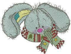 Stylish bunny 3 embroidery design