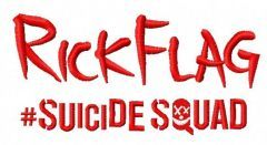 Suicide Squad RickFlag 3 embroidery design