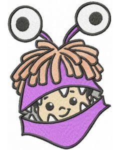 Boo embroidery design 2