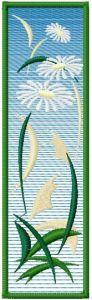Summer bookmark free machine embroidery design