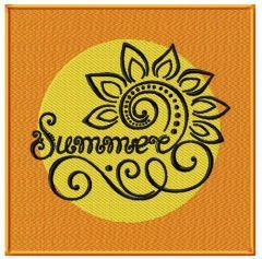 Summer embroidery design