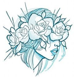 Summer mood embroidery design