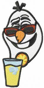 Summer Olaf embroidery design