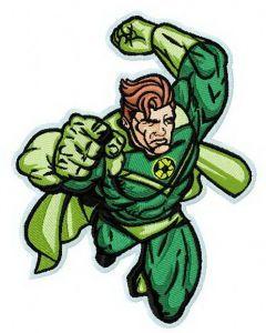 Superhero's attack 2 embroidery design