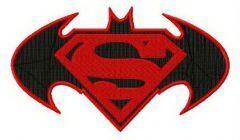 Super Batman embroidery design