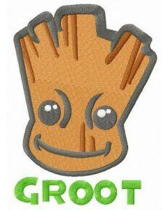 Super hero Groot embroidery design