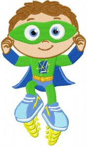 Super Why embroidery design