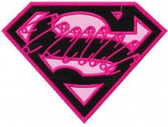 Supergirl logo 2 embroidery design