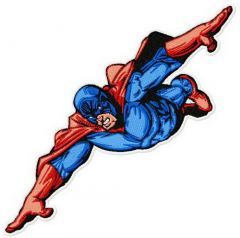 Superhero flying embroidery design