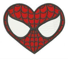 Superhero heart embroidery design