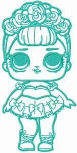 Surprise doll embroidery design