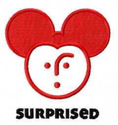 Surpised Mickey embroidery design
