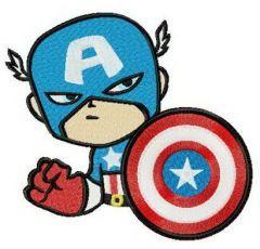Suspicious Captain America embroidery design