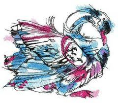 Swan in my dreams embroidery design