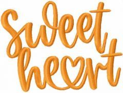 Sweet heart free embroidery design