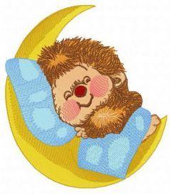 Sweet hedgehog's dreams embroidery design