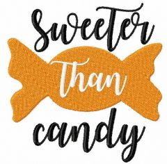 Sweeter than candy embroidery design