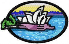 Sydney Opera House free machine embroidery design