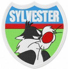 Sylvester badge embroidery design