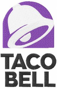 Taco Bell logo 2016 embroidery design