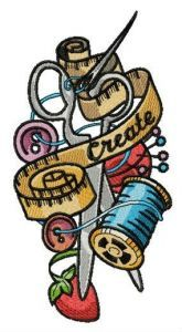Tailor's treasures embroidery design