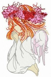 Talking with God embroidery design
