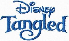 Tangled Logo embroidery design