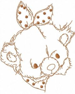 Baby teddy embroidery design