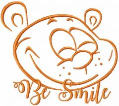 Teddy be smile embroidery design
