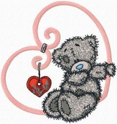 Tatty Teddy My love embroidery design