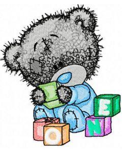 Tatty Teddy Bear play embroidery design
