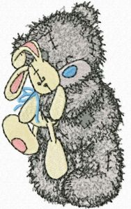 Teddy Bear with toy embroidery design