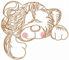 Teddy toy embroidery design