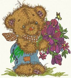 Teddy's bouquet 6 embroidery design
