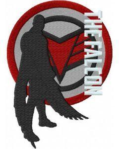 The falcon winter soldier embroidery design