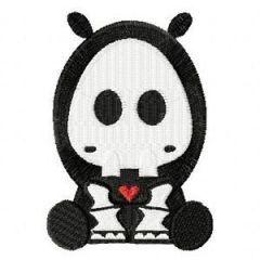 Skelanimals Thomas the Hippo embroidery design