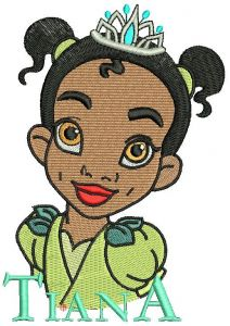 Young Tiana machine embroidery design 2